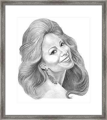 Mariah Carey  Framed Print by Murphy Elliott