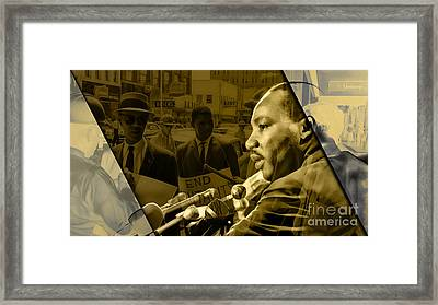 Martin Luther King Collection Framed Print