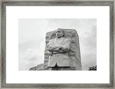 Martin Luther King Jr Statue Framed Print by Brandon Bourdages
