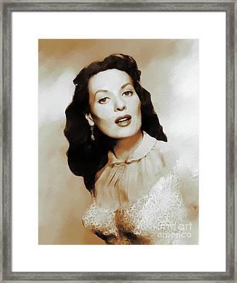 Maureen O'hara, Actress Framed Print