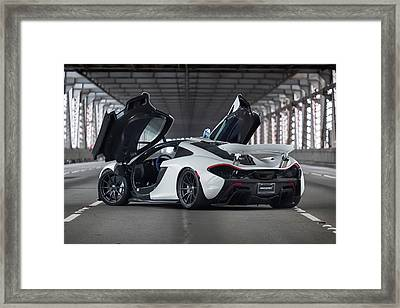 Framed Print featuring the photograph #mclaren #p1 #print by ItzKirb Photography