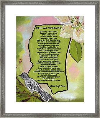 Meet My Mississippi Framed Print