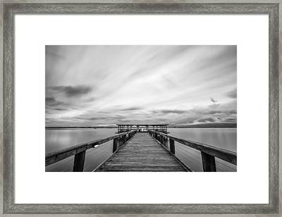 Melbourne Beach Pier Sunset Framed Print