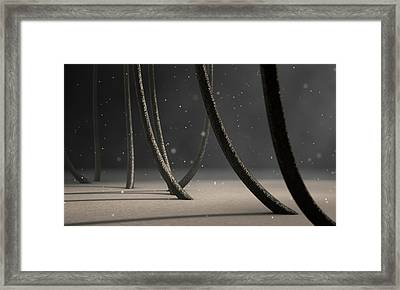 Microscopic Hair Fibers Framed Print