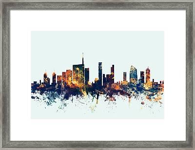 Milan Italy Skyline Framed Print by Michael Tompsett