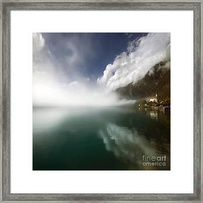 Misty Morning Framed Print by Angel Ciesniarska