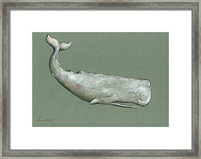 Moby Dick The White Sperm Whale  Framed Print
