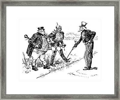 Monroe Doctrine Cartoon Framed Print by Granger