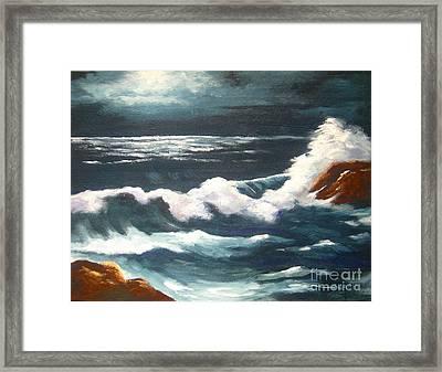 Moonlight  Tide Framed Print by Shasta Eone