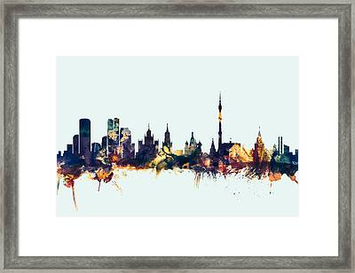 Moscow Russia Skyline Framed Print by Michael Tompsett