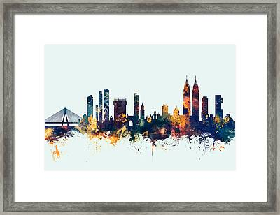 Mumbai Skyline India Bombay Framed Print by Michael Tompsett