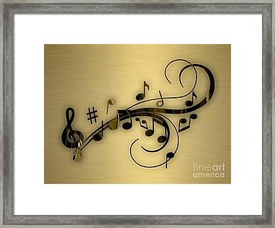 Music Flows Collection Framed Print
