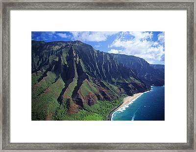 Na Pali Coast Aerial Framed Print by Bob Abraham - Printscapes