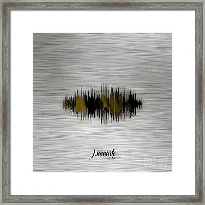 Namaste Spoken Soundwave Framed Print by Marvin Blaine