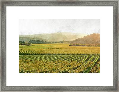 Napa Valley California In Autumn Framed Print