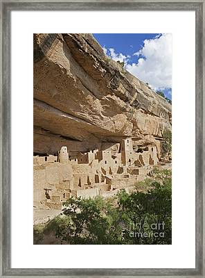 Native American Cliff Dwellings Framed Print by Bryan Mullennix
