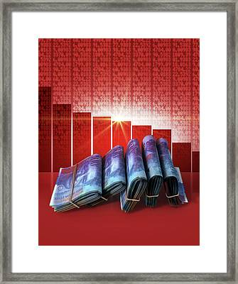 Negative Market Money Framed Print