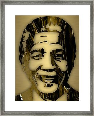 Nelson Mandela Collection Framed Print by Marvin Blaine