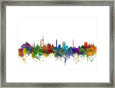 New Delhi India Skyline Framed Print