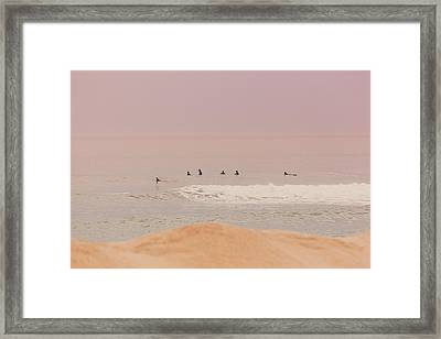 New Jersey Surfers Framed Print