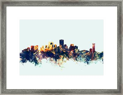 New Orleans Louisiana Skyline Framed Print by Michael Tompsett