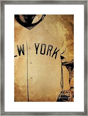 New York Yankees Baseball Team Vintage Card Framed Print