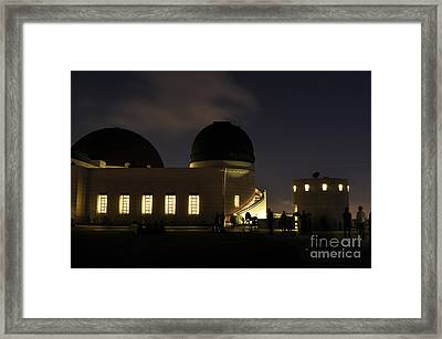 Night At Griffeth Observatory Framed Print