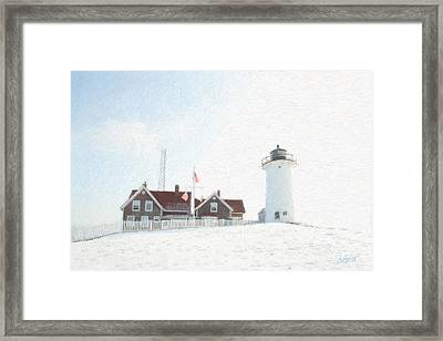 Nobska Light House Framed Print by Michael Petrizzo