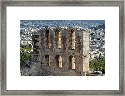 Odeon Of Herodes Atticus Framed Print by George Atsametakis