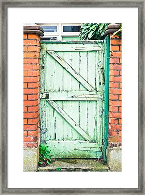 Old Gate Framed Print