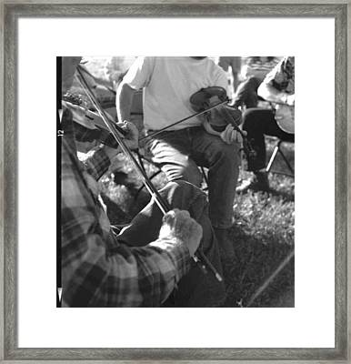Old Timey Fiddle Session Framed Print