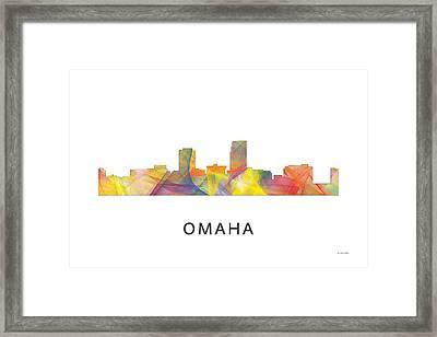 Omaha Nebraska Skyline Framed Print by Marlene Watson
