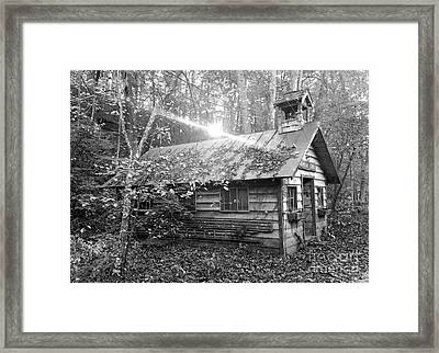 One Room School House Gnawbone Indiana Framed Print by Scott D Van Osdol