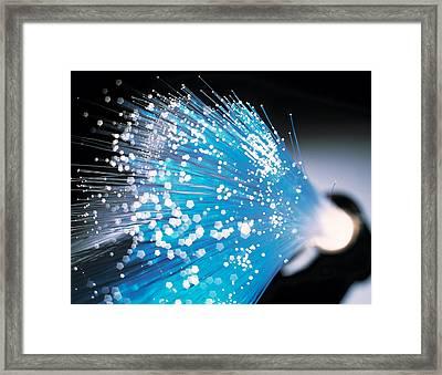 Optical Fibres Framed Print by Tek Image