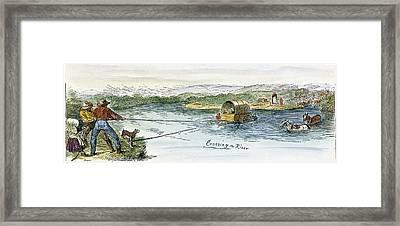 Oregon Trail Emigrants Framed Print by Granger