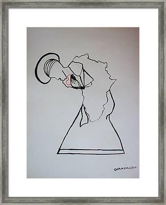 Our Lady Of Africa Framed Print by Gloria Ssali