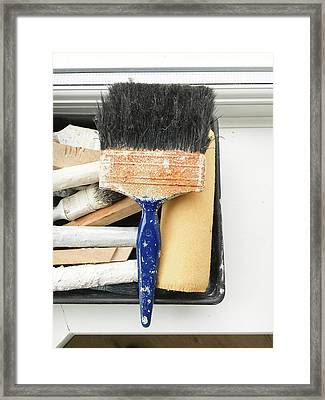 Paint Brushes Framed Print by Tom Gowanlock