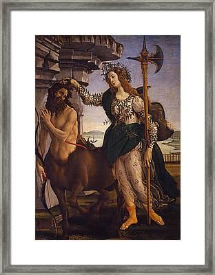 Pallas And The Centaur Framed Print by Sandro Botticelli