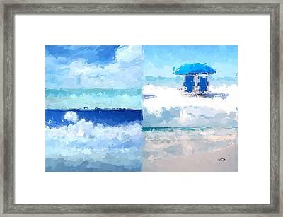 4 Panel Abstract Beach 2 Framed Print
