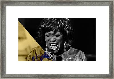 Patti Labelle Collection Framed Print by Marvin Blaine
