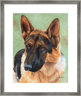 Pet Portrait Painting Commission Dogs Cats Horses  Framed Print by Sharon  Lamb