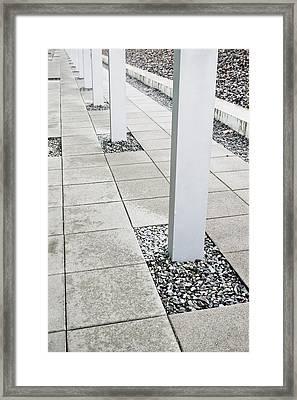 Pillars Framed Print by Tom Gowanlock
