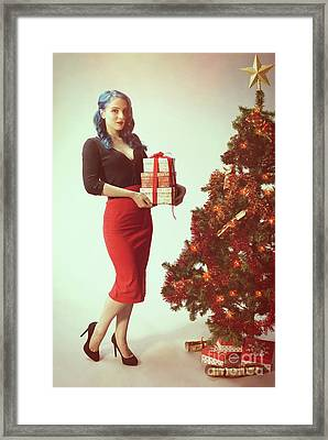 Pin Up Girl Series Framed Print by Amanda Elwell