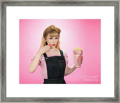 Pin Up Style Framed Print by Amanda Elwell