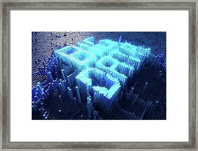 Pixel Big Data Concept Framed Print