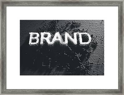 Pixel Brand Concept Framed Print by Allan Swart