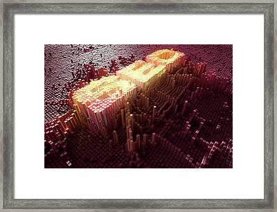 Pixel Seo Concept Framed Print