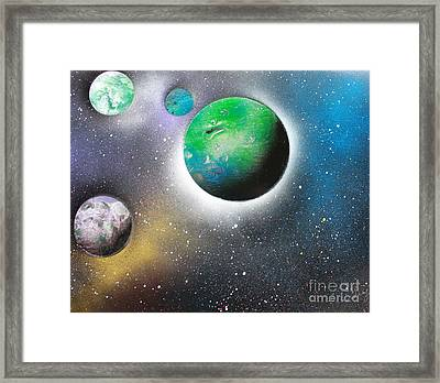 4 Planets Framed Print by Greg Moores