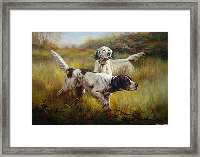 Pointers Framed Print by Lucia Amitra