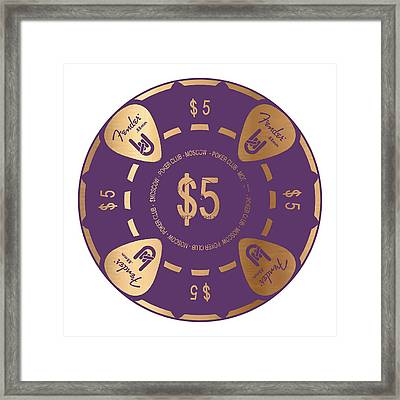 Poker Chip Framed Print by Francois Domain